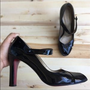Marc Fisher Black Patent Leather Mary Janes